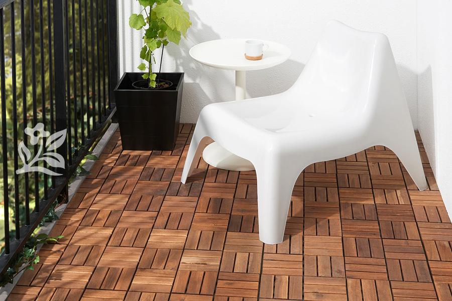 sàn gỗ ban công 2