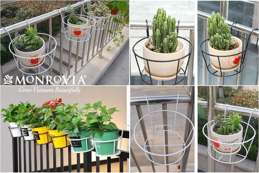 Giỏ treo hoa ban công Monrovia phù hợp với không gian hiện đại
